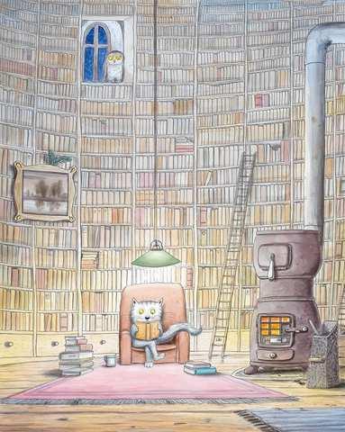 Erwin Moser, Der Bücherturm, © Verlag Beltz&Gelberg